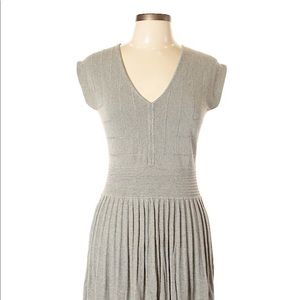 Max Studio Grey Pointelle Dress XS